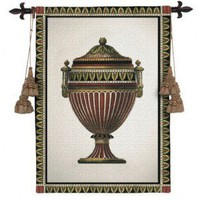 Fine Art Tapestries Empire Urn II Tapestry - 1716-WH - All Wall Art - Wall Art & Coverings - Decor