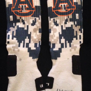 Auburn University Tigers Inspired Custom Nike Elite Socks