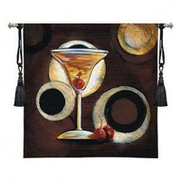 Fine Art Tapestries Manhattan Cocktail Tapestry - Susan Osbourne - 3235-WH - All Wall Art - Wall Art & Coverings - Decor