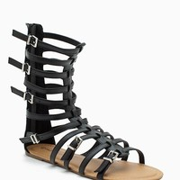 Tanaya 188 Buckled Mid Calf Gladiator Sandal