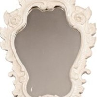 One Kings Lane - Grant K. Gibson - White Venetian-Style Mirror