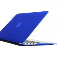 "Pioneer Tech 13 Color Matt Rubberized Hard Case Cover For Apple Macbook Air 11.6"" (dark blue)"