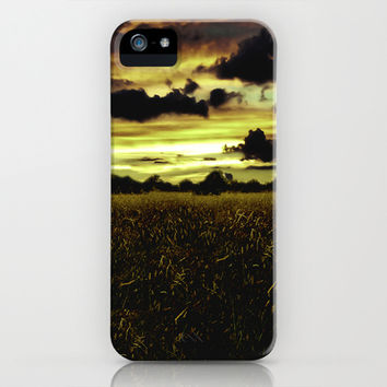 Dark Meadow Landscape  iPhone & iPod Case by Danflcreativo