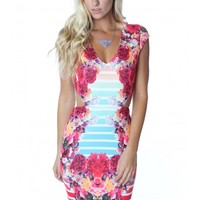 Bright Bouquet Cutout Dress