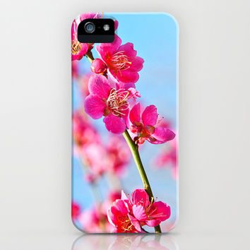 pink flowers iPhone & iPod Case by Kristi Kaz | Society6