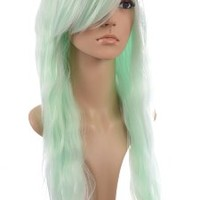Avril Lavigne Style Long Crimped Wig | Sweeping Fringe | 3 Pastel Cosplay Shades