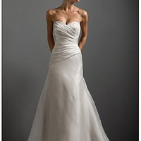 Buy Elegant Organza Satin Sweetheart Neckline Wedding Dress