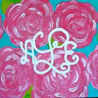 Monogrammed 8x10 Canvas on Etsy