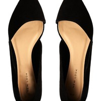 New Look Jingy Black Asymmetric Pointed Flat Shoes at asos.com