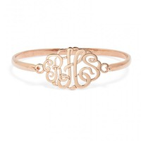 Script Monogram Bangle (Ships 5 Weeks From Order Date)