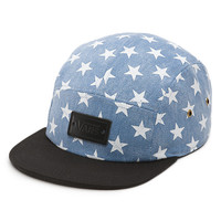 Camper Hat (Washed Denim/Blue Stars)