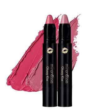 *SP Pretty In Pink! Glossy Kiss Lip Cheek Colour 3g DUO - Mirenesse