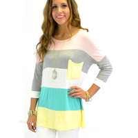 Castle Harbor Pink Colorblock Pocket Tunic