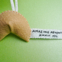Inspiring Fortune Cookie Ornament Amazing by TheOffbeatBear