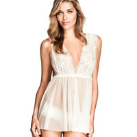 H&M - Lace Nightgown - White - Ladies