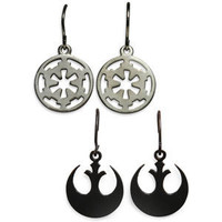 ThinkGeek :: Star Wars Logo Earrings
