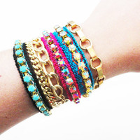 Stackable friendship bracelet set FAYE & CLAIRE by FIVEANDTWOshop