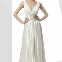 low V neck Elegant Gown [Even428094] - &amp;#36;150.99 :