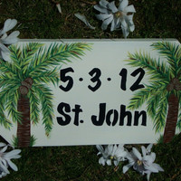 WEDDING SIGN Personalized Handpainted Keepsake by TheRightJack