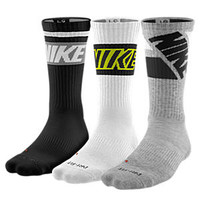 The Nike Dri-FIT Fly Rise Crew Socks (Large/3 Pair).