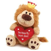 """You Make My Heart Roar 21"""" with Red Heart Pillow Animal Plush"""