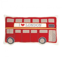 Blissliving Home Double Decker Bus Wool Pillows