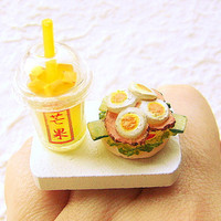 Kawaii Food Ring Fruit Smoothie Sandwich by SouZouCreations