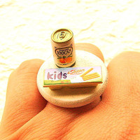 Kawaii Cute Japanese Ring Orange Juice And by SouZouCreations