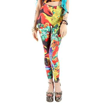 "Women's ""Hellawaiin Holiday"" Leggings by Iron Fist (Multi)"