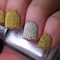 20000 Diy Gold Caviar Metallic Studs for Nails Art
