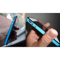 Blue and Black Premium Bumper Case for Apple iPhone 4S / 4 - (AT&T, Verizon, Sprint)