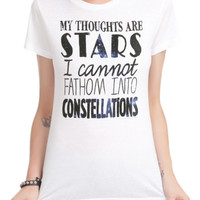The Fault In Our Stars Thoughts Are Stars Girls T-Shirt