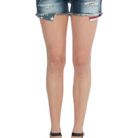 Coastal Cool Distressed Denim Shorts