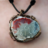 Ancient Waters Fossilized Coral Wire wrapped by SpiritTribe
