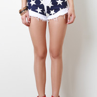 Stars High Waisted Shorts