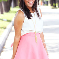 Coral Short Wrap Skirt