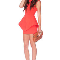 All is Flare Dress in Coral :: tobi