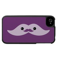 Cute Purple Mustache Case For The Iphone 4 from Zazzle.com