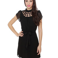 Nightbreak Beaded Black Dress