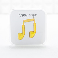 Happy Plugs Headphones in Yellow - Urban Outfitters