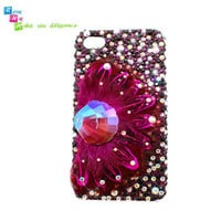 Handmade hard case back cover for iPhone 4 & 4S Bling by nieleilei
