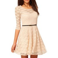 Janecrafts Womens Sexy Lace Hollow Slim Casual Skirt Clubwear Cocktail Party Dress