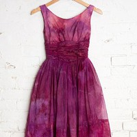 Vintage Poppy Low-Back Dress - Urban Outfitters