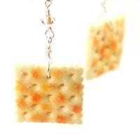 Saltine earrings  cracker earrings by inediblejewelry on Etsy