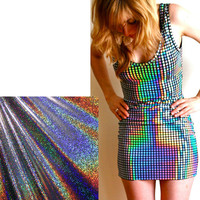 Women Disco Glitter Dress by devowevoshop on Etsy