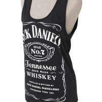 Brand new Women Jack Daniels Summer tank top tee t-shirt black  ... S-M-L Size