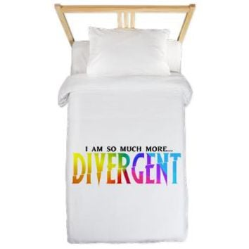 Divergent Colorful Twin Duvet - Girl Tease
