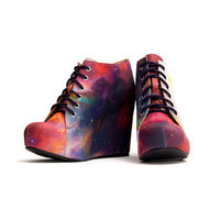 99 Tie - Rainbow Galaxy | Black Milk Clothing