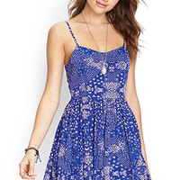 Abstract Spotted Cami Dress