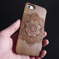 Mandala iPhone 5 case - Wood iPhone 5s case - Wooden iPhone 5C case - Wood iPhone 4S case - Wooden iPhone 4 case - Mandala - 20